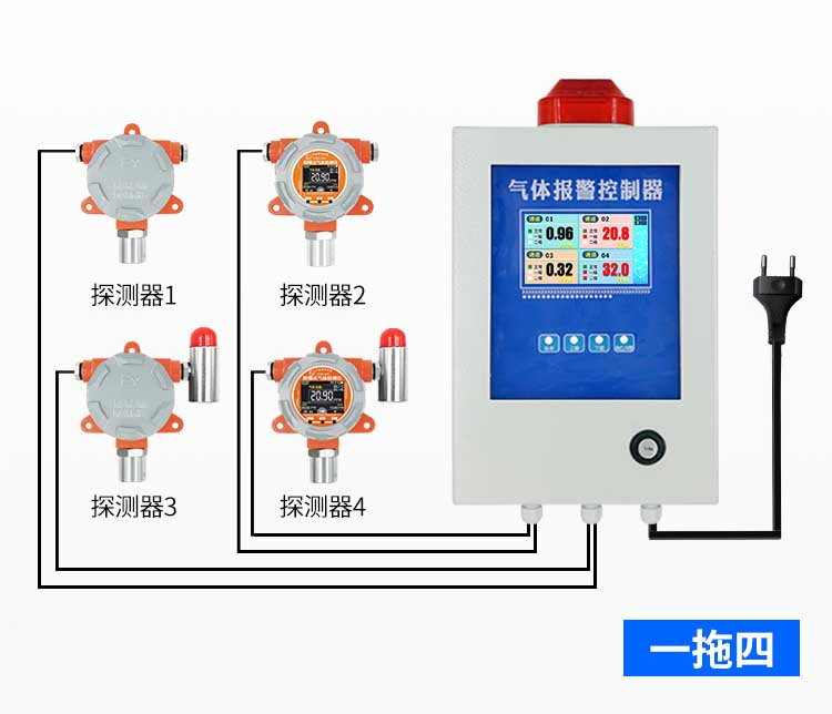 可燃气体探测器的连接方式