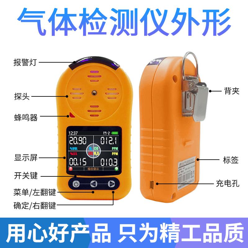 便携式可燃气体检测仪外型